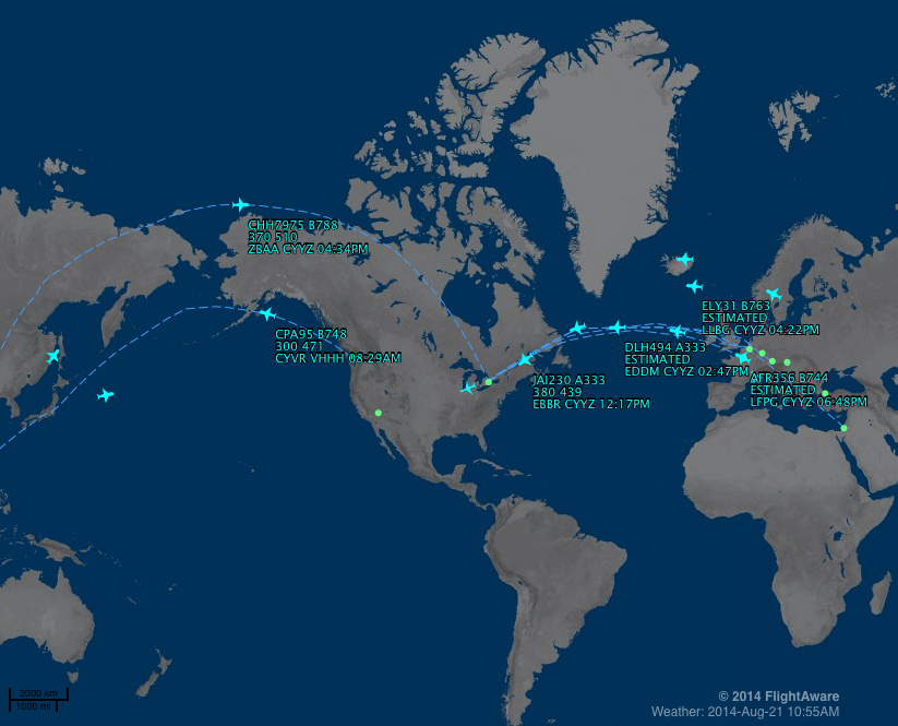 MyFlightAware Map for Twitter